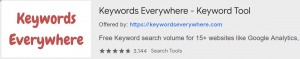 SEO Keywords Search Volume with Keywords Everywhere - Keyword Tool