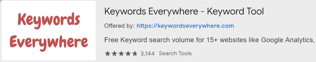 SEO Keywords Search Volume with Keywords Everywhere - Keyword Tool