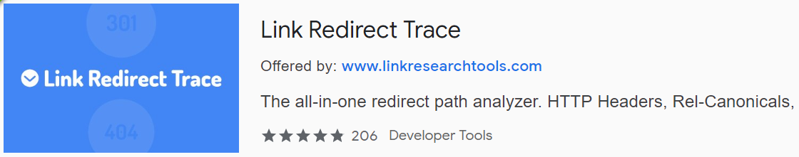 SEO Quick Inspection of URL path redirection with Link Redirect Trace
