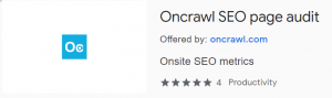 SEO Quick Inspection & Page Audit with Oncrawl