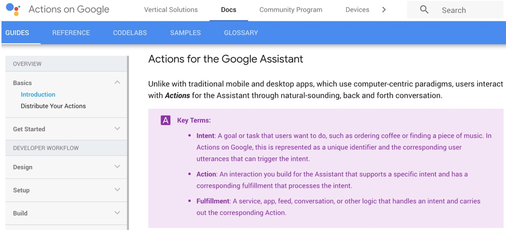 Action on Google Platform